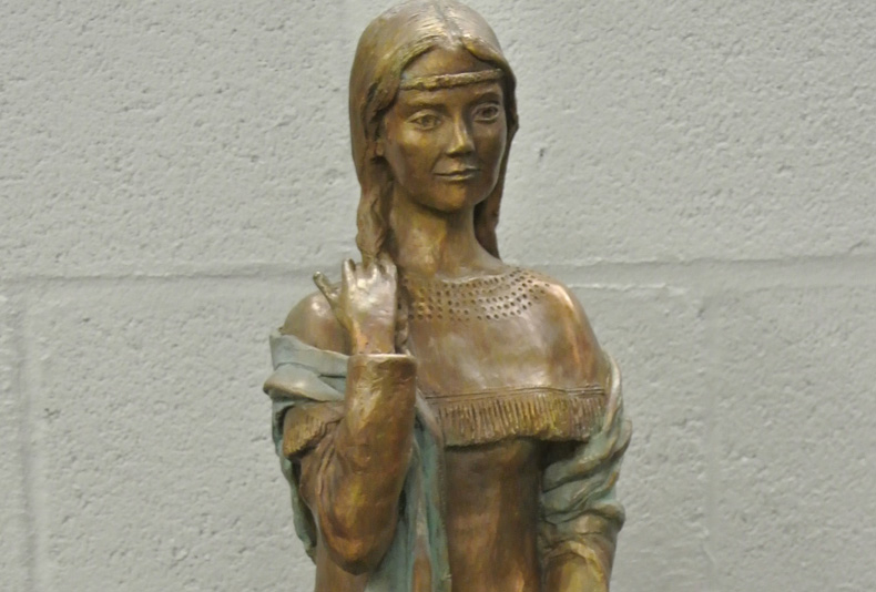St. Kateri | 2015  This is part of a collectable maquette series, with available editions.