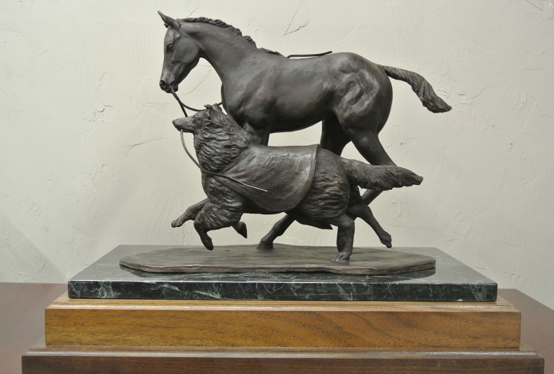 Texas A&M Colt & Collie | 2016  Sculpted by Lisa Perry, this was a limited edition of 20.
