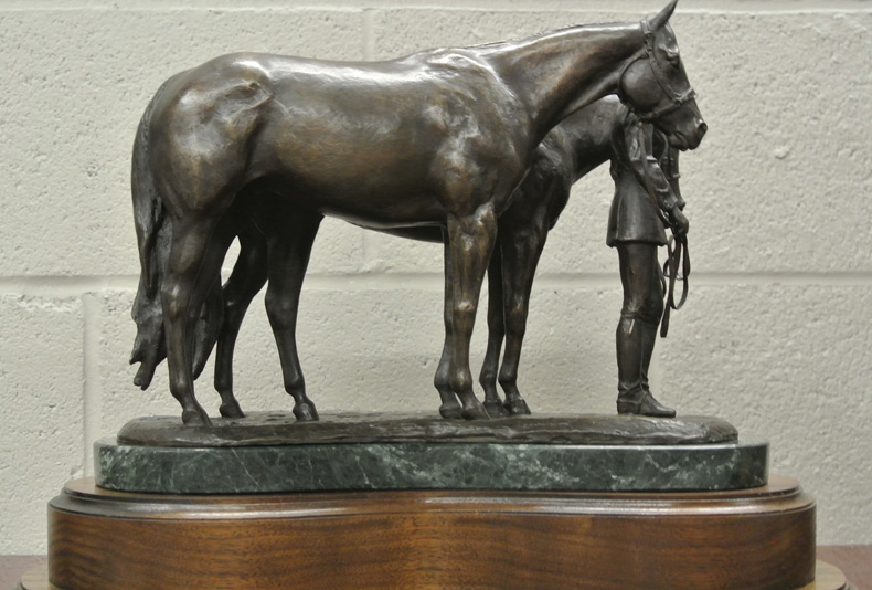 All Around Amateur | 2016  This is an American Quarter Horse Association Trophy sculpted by Lisa Perry.