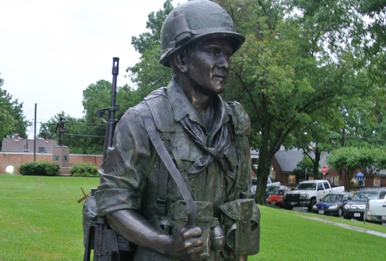 Medal of Honor | 2016  This memorial/portrait sculpture was commissioned by the city of Corsicana.