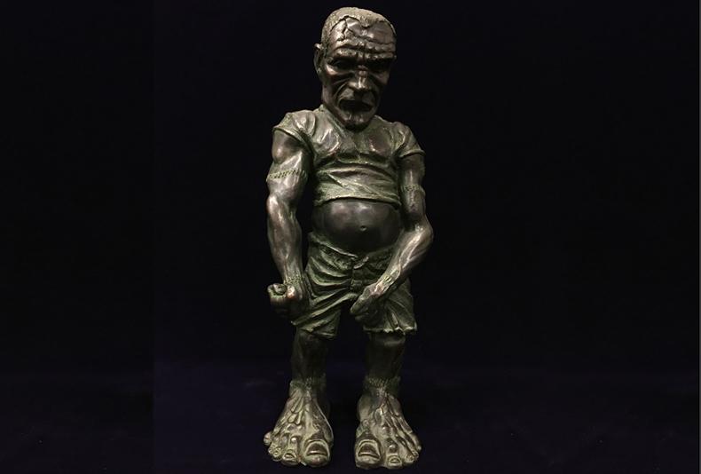 """Frankenstein  Limited edition bronze sculpture.  6 X 6 X 19"""""""