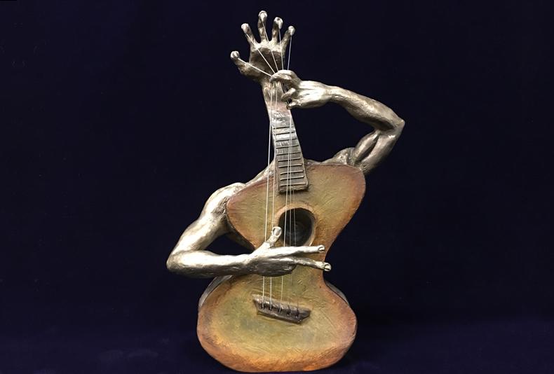 "Va'Rung  Limited edition bronze sculpture.  9 X 6 X 16.5"""
