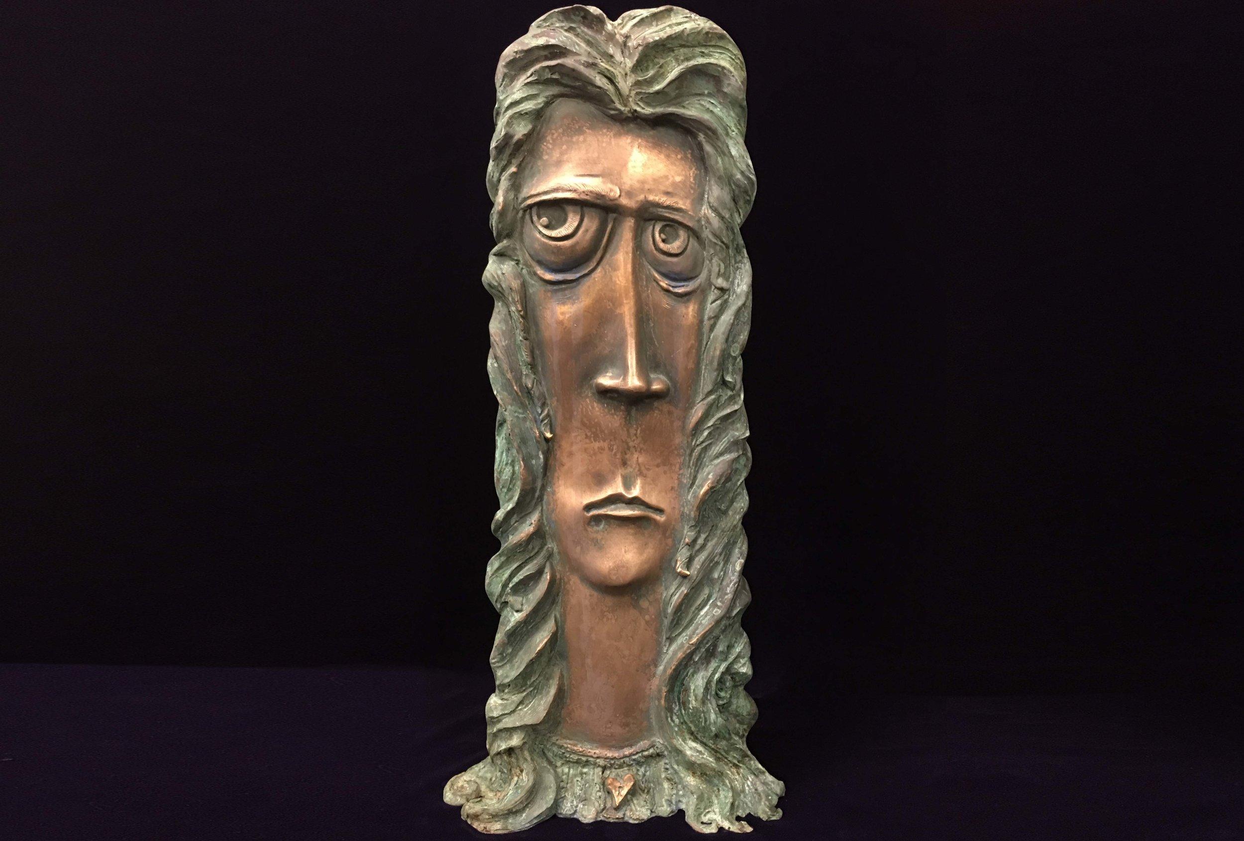 "Eve  Limited edition bronze sculpture.  21 X 9 X 5"""