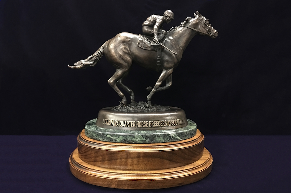 Louisiana Quarter Horse Assoc. | 2018  A commisioned trophy for the LQHA.