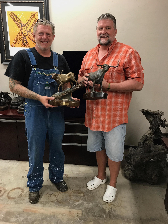 Todd Mueller & his 1st bronze sculptures