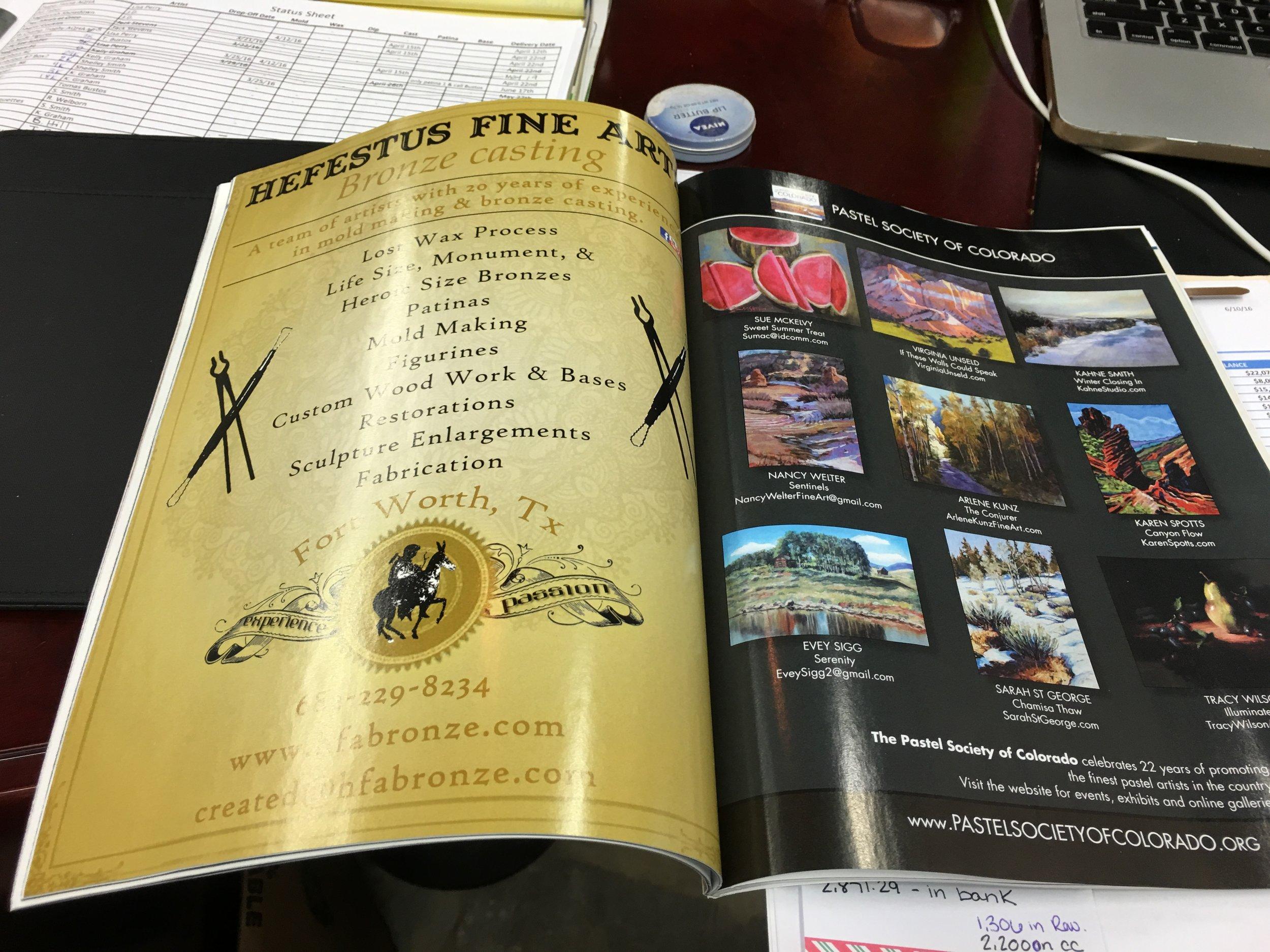 Southwest Art Magazine Ad