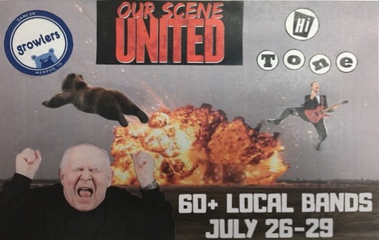 "Do you like bands? Do you like music? Are you a living human being? If you answered to ""YES"" to at least one of these questions then come on out to OUR SCENE UNITED at @thehitonecafe and @901growlers  this Thursday through Sunday (July 26-29) to see the bands that make this city loud and proud! There's over 60 bands playing this weekend and we are one of them. We will be playing this Sunday at Growlers around 7:30pm. Come join us for the fun and join us in the audience for all the other bands as well. Hope to see you there!  Kindergarten collage by @jurstincoolie  ______________________________________________ #901memphis #oursceneunited #hitonememphis #growlersmemphis #movienightband #mn #memphismusic #localnoise"