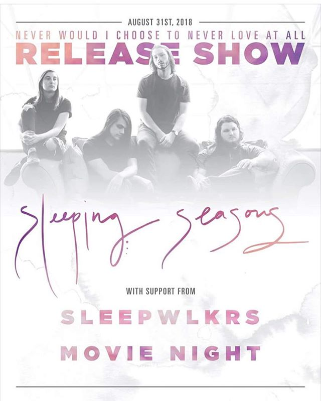 "They done did it ya'll. @sleepingseasons is releasing a brand spank'n new LP! To celebrate such a joyous occasion these super humans are throwing a release show next Friday and were nice enough to ask us to join in on their big day. Don't be a fool and miss all these sweet sweet jams. Go check out their new music video/ single ""Things That Scare Us"" on YouTube and get ready for a good time. // HiTone // Doors at 7p // ———————————————————— #memphismusic #releaseshow #sleepingseasons #901 #localnoise #neverwouldichoosetoneverloveatall"