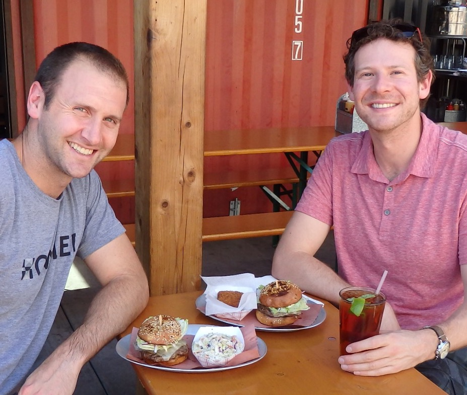 Kevin and Olly at 4505 Burgers and BBQ