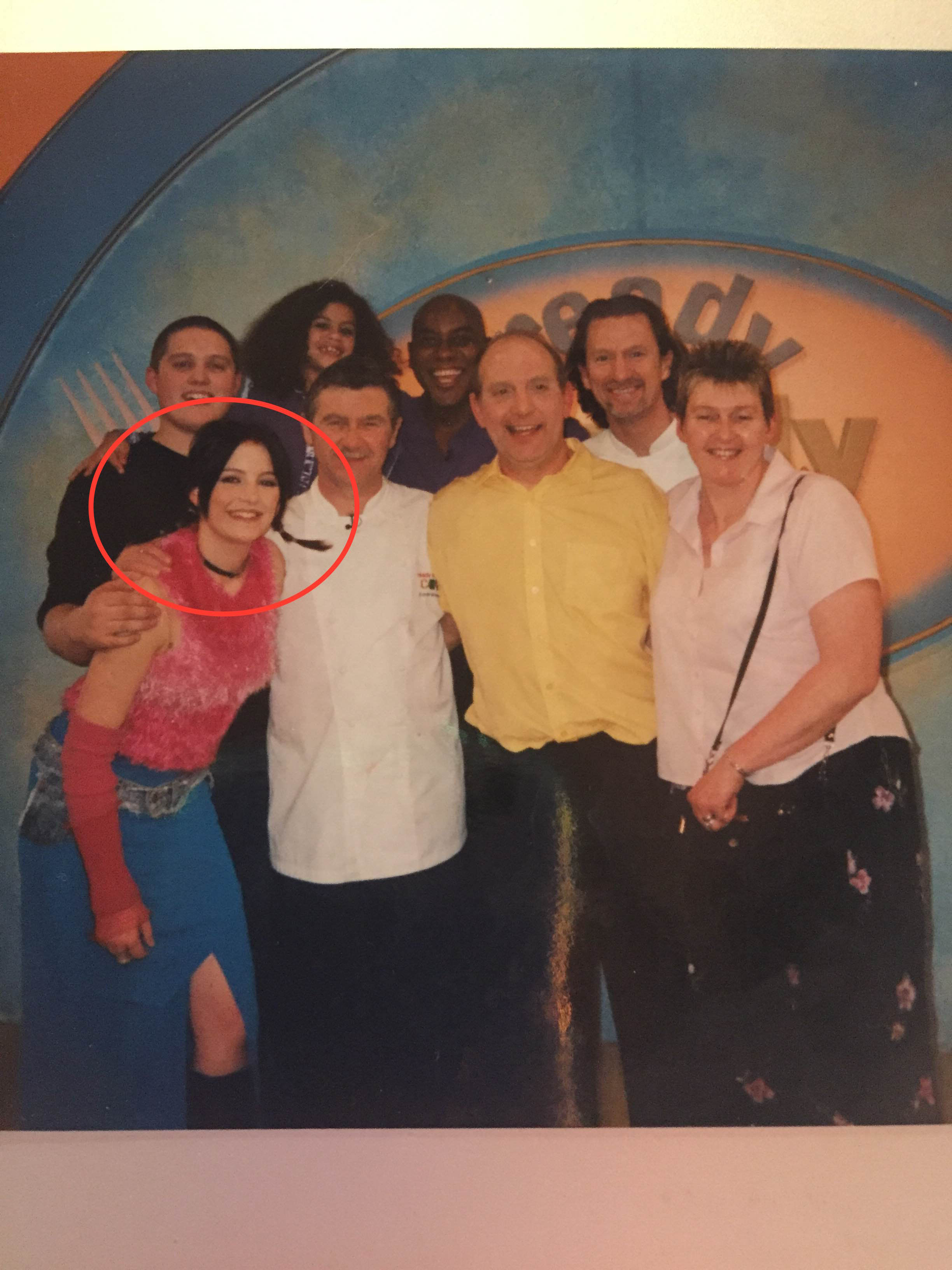 Alix Fox (circled) leads the Green Peppers to victory in Ready Steady Cook