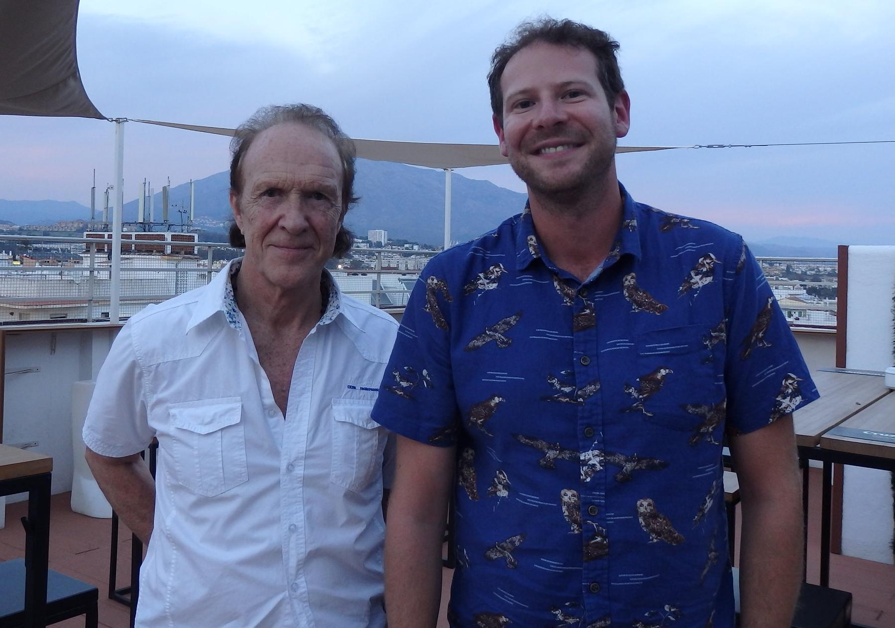 The 'buspass bull-fighter', Frank Evans, with Olly Mann