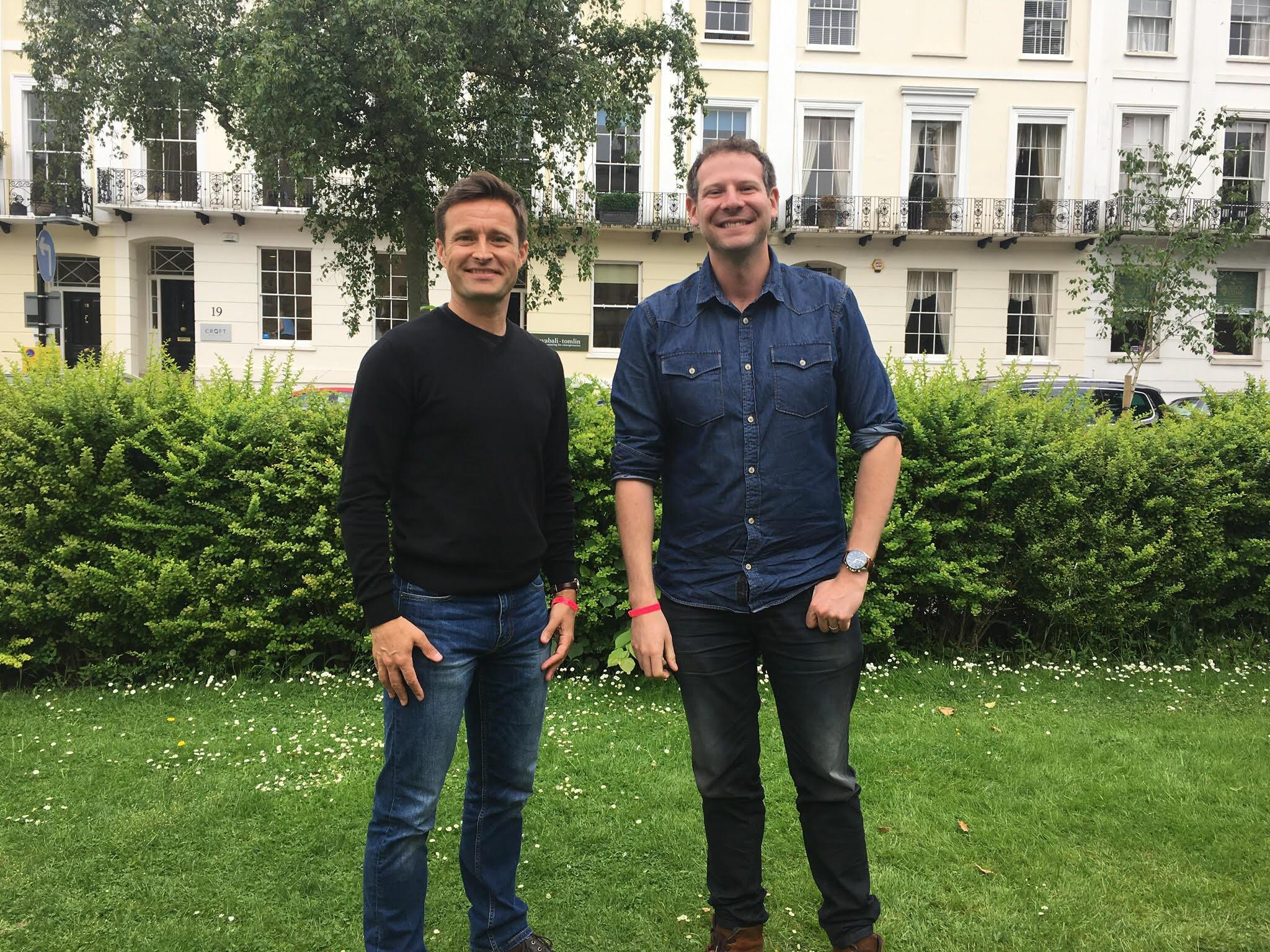 Steve Ingham and Olly Mann at the Cheltenham Science Festival, 2018