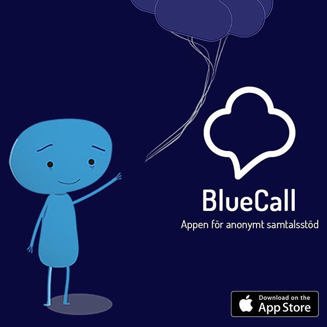"""Glöm inte bort att ladda ner """"bluecall"""" för gratis samtalsstöd för ALLA tillfällen. Ibland behöver man prata av sig och det behöver inte betyda att man mår jättedåligt men mycket ångest kan släppa bara man pratar om det. Därför finns @bluecallapp och finns att ladda ner helt gratis på AppStore. SÅ BRA! #samarbete #bluecall #ångestpodden"""