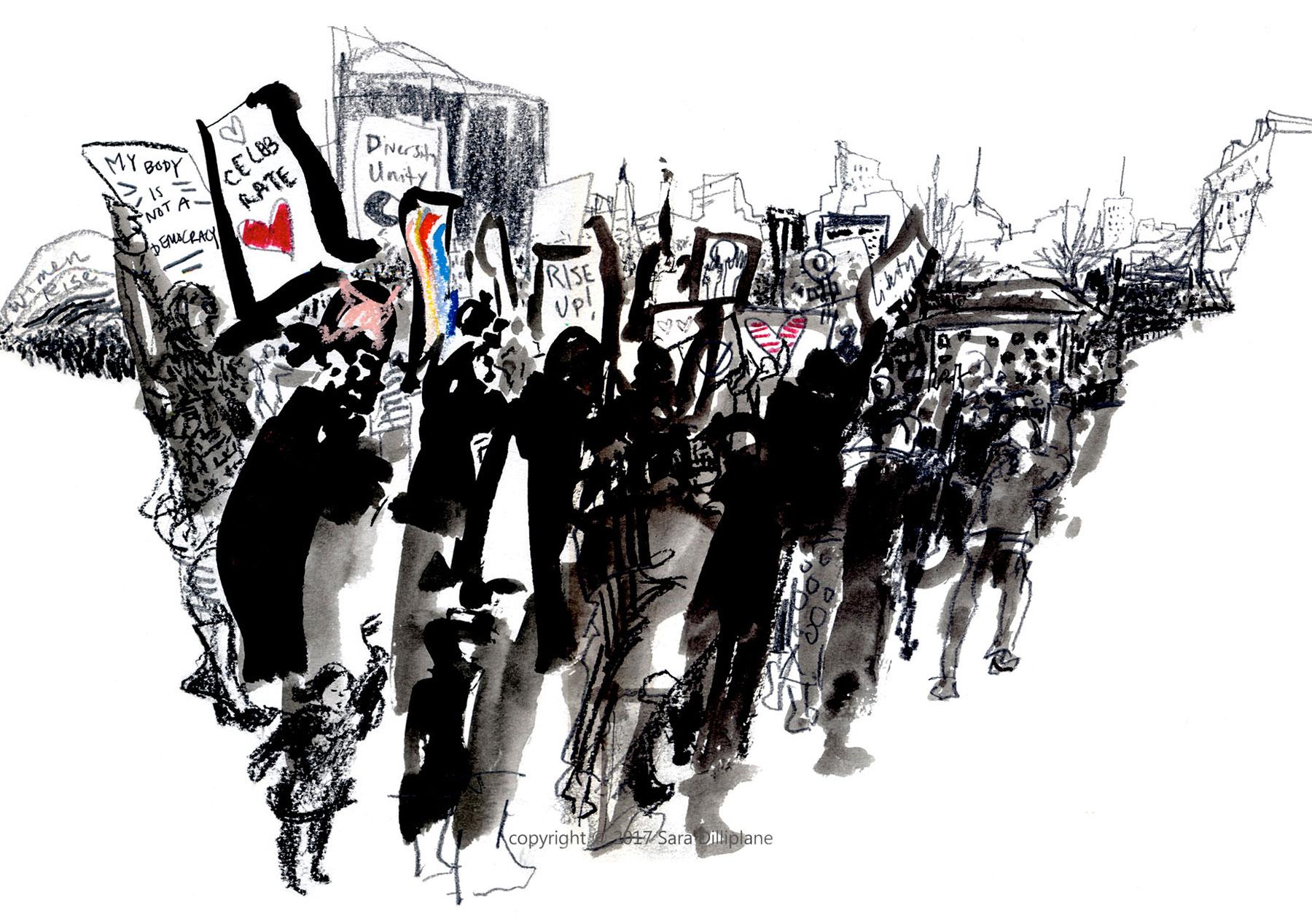 Women's March, 1/21/17, Boston