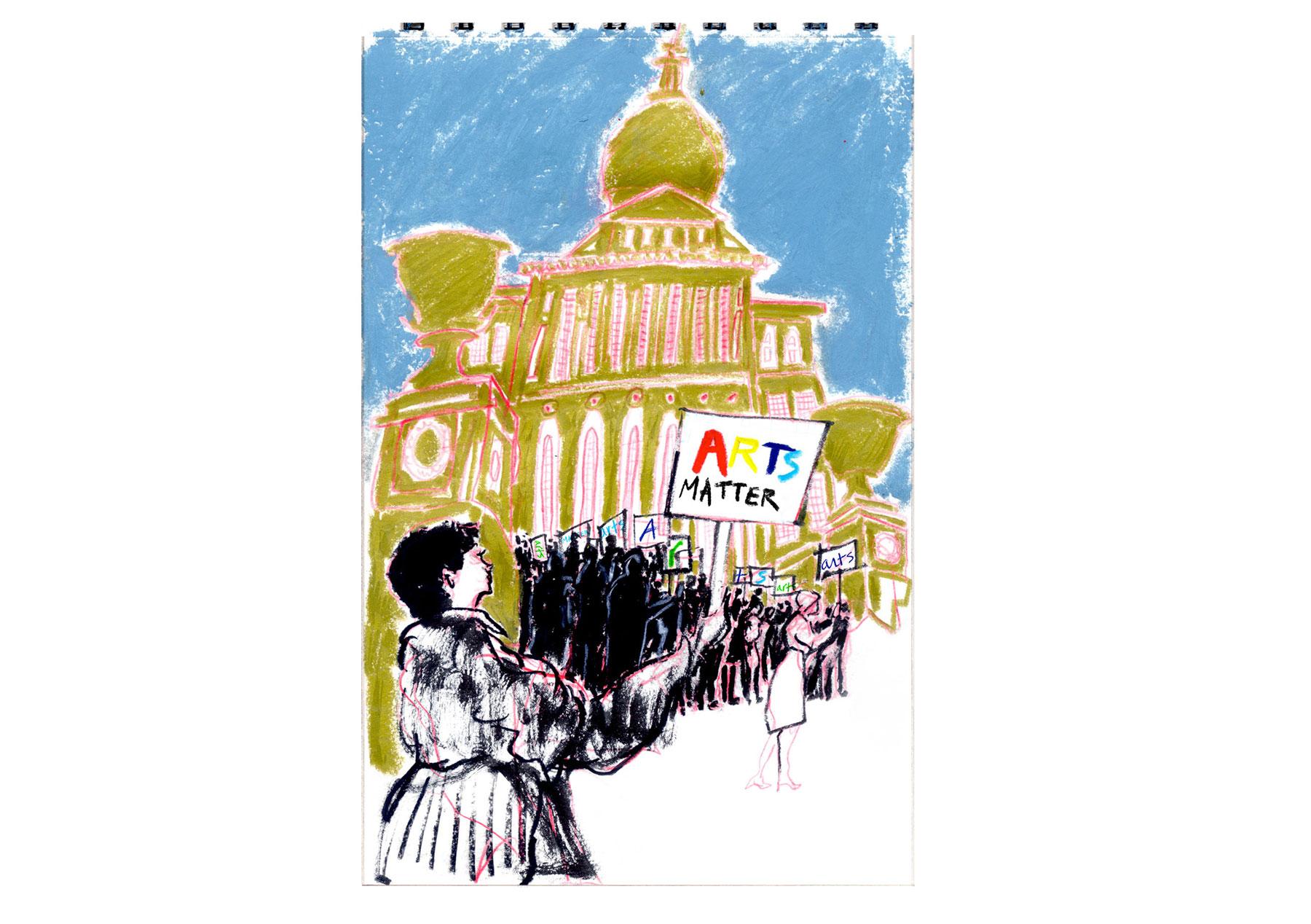 Arts Matter Rally, 2017, Ma. State House