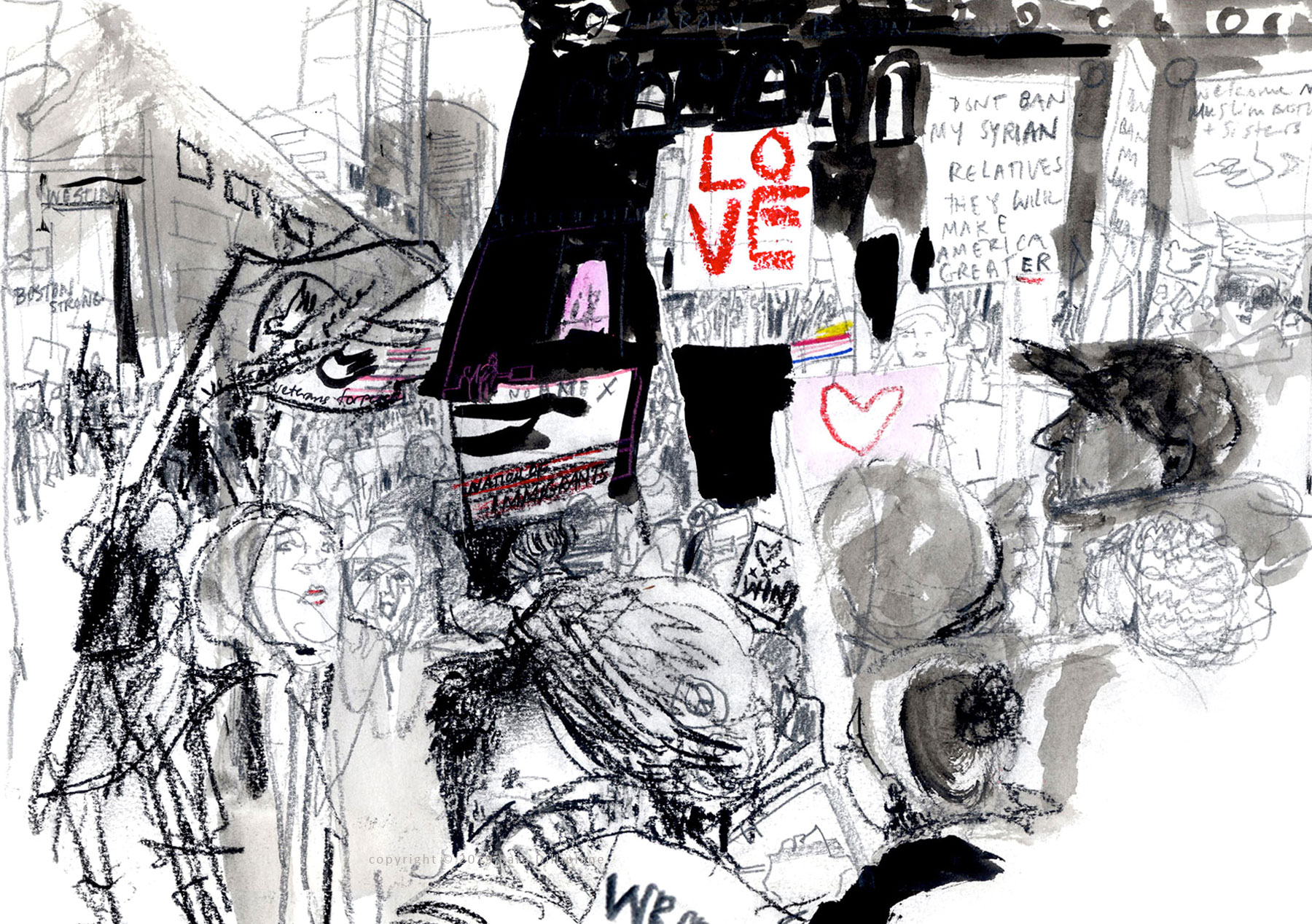 Immigrant Solidarity rally, Boston, 2/17