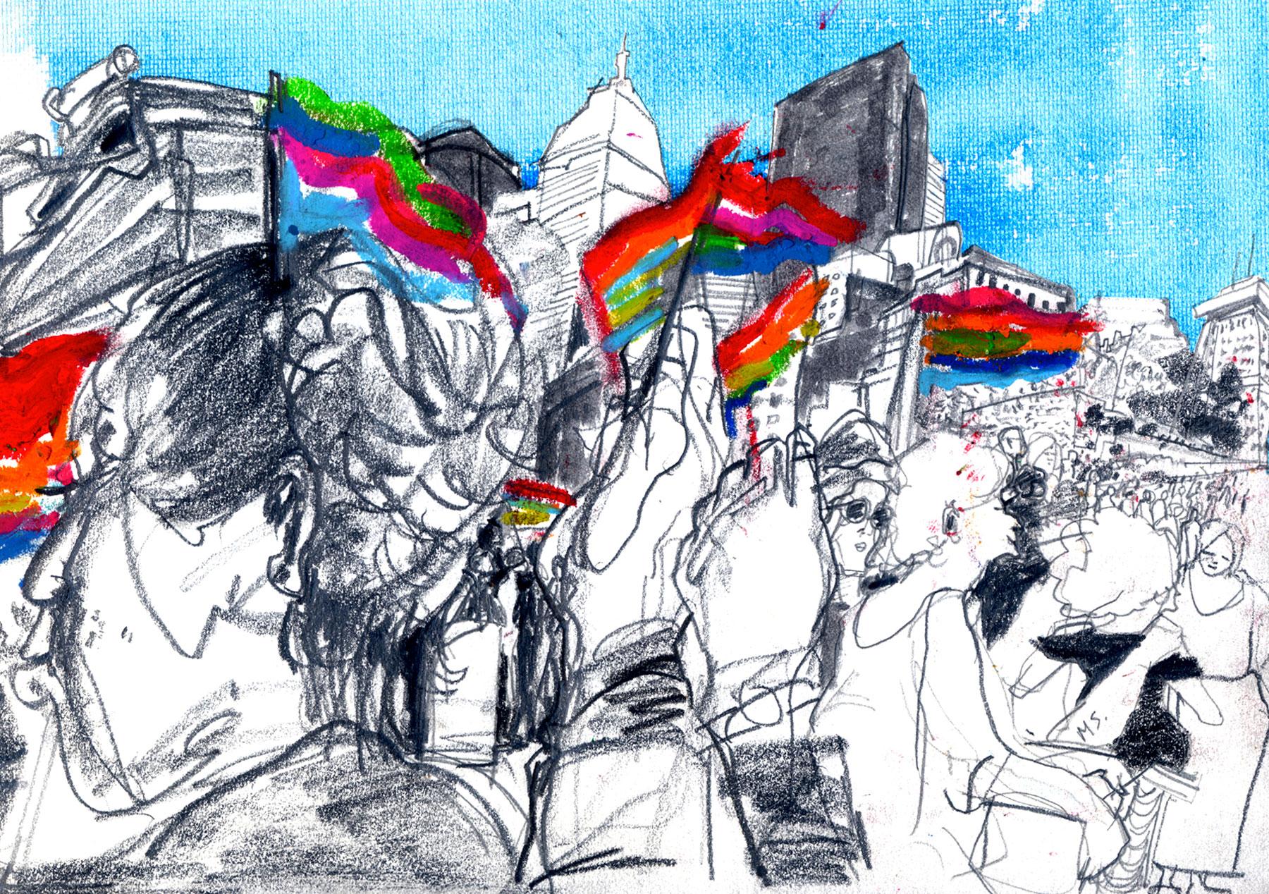 Boston's Pride Week rally, 6/17