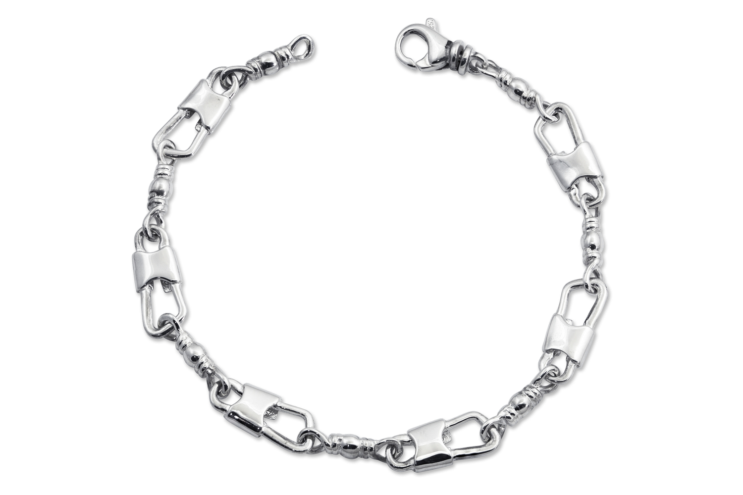 ACTS Sterling Silver Fishers Of Men Bracelet with Cross ID
