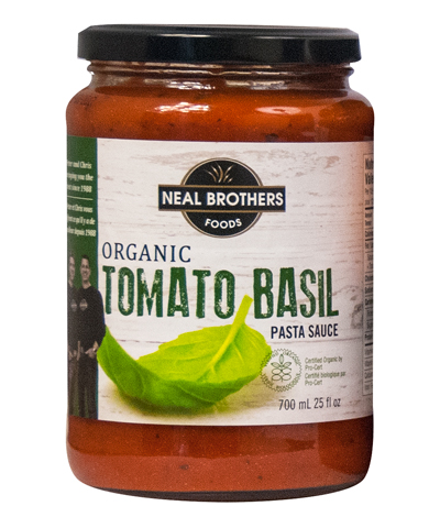Neal Brothers Organic Tomato Basil Pasta Sauce Packaging Design