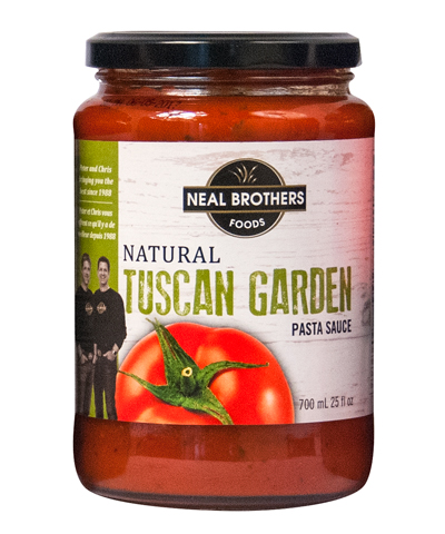 Neal Brothers Natural Tuscan Garden Pasta Sauce Packaging Design