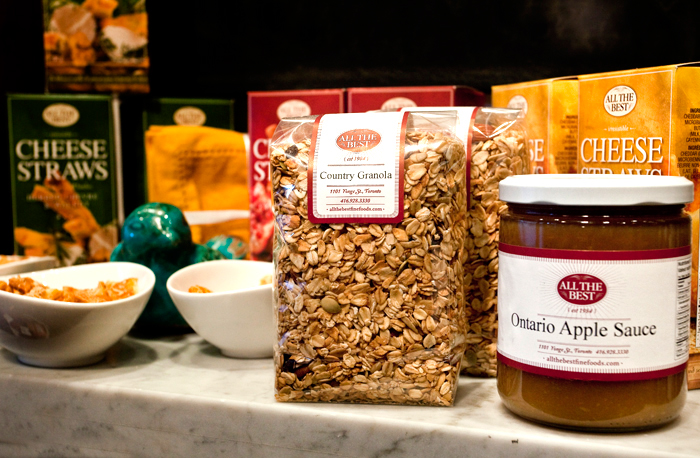 all the best granola and sauce
