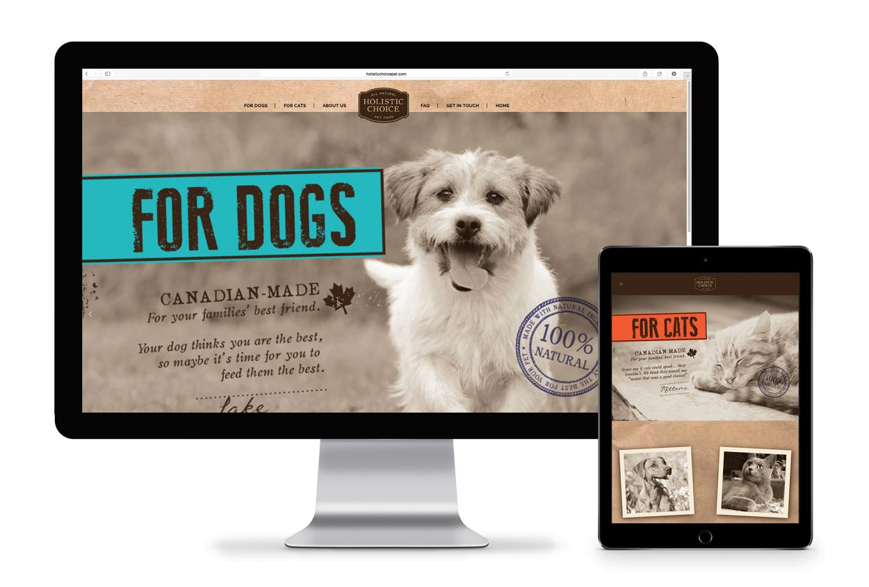 Holistic Choice Pet Food Web Design