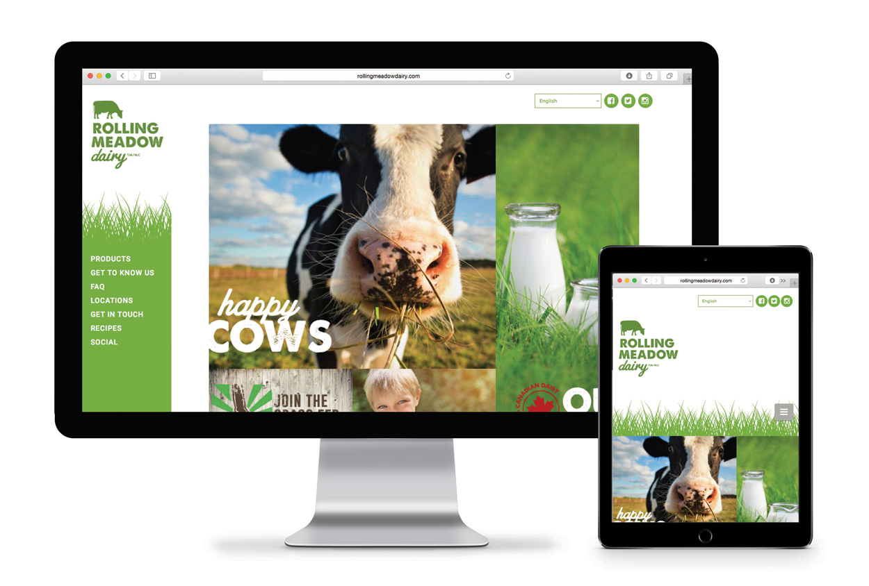 Rolling Meadow Dairy Web Design