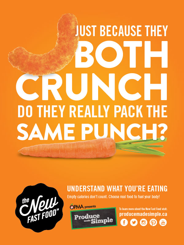 Campaign design and copy-writing for The New Fast Food ( TDSB and OPMA )