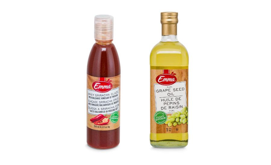 Emma Sriracha Glaze and Emma Pure Grape Seed Oil