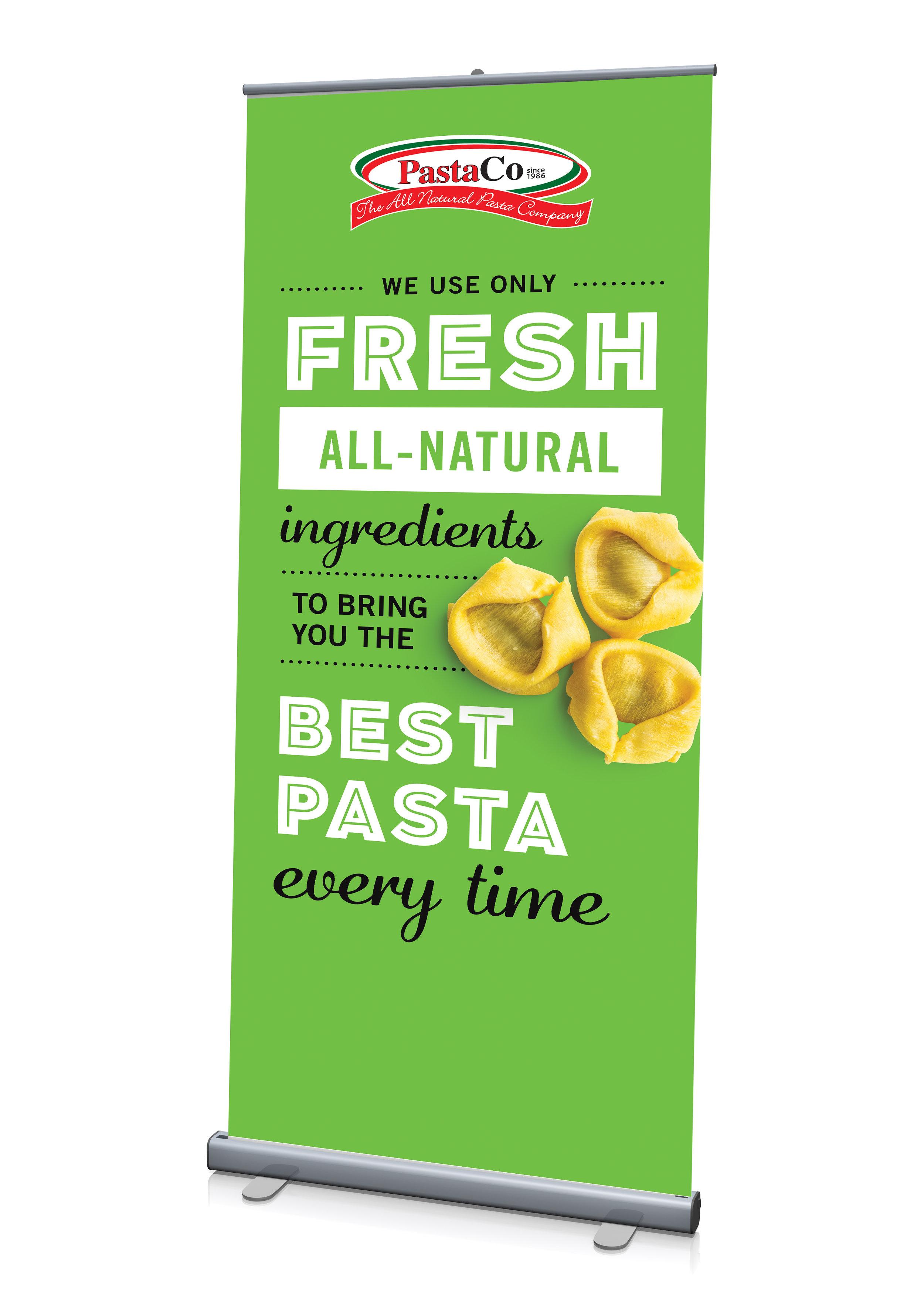 Pasta Co. Tradeshow Banner design