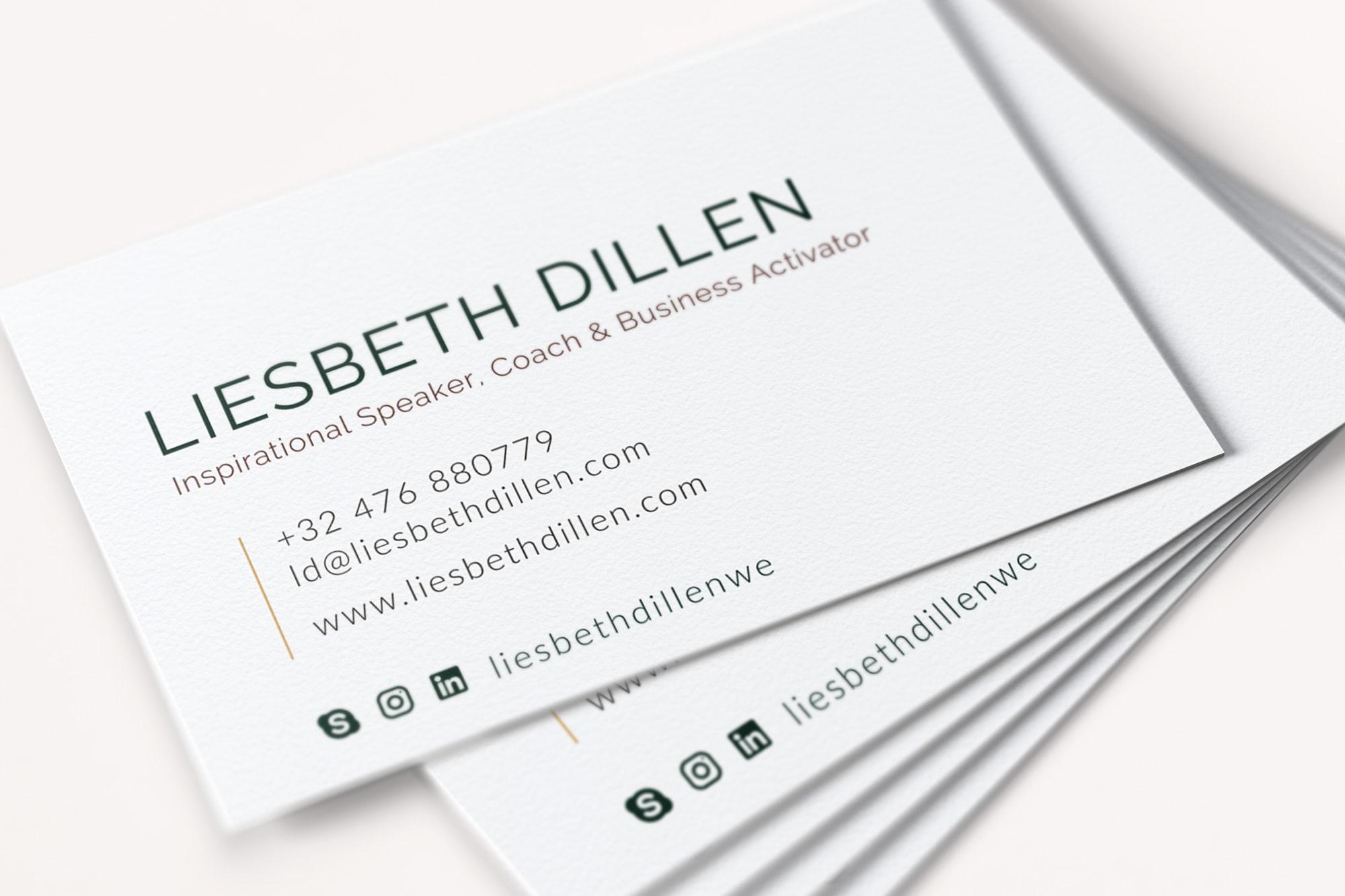 WEB, Brand, Content | VJS Agency | Liesbeth Dillen Business Cards