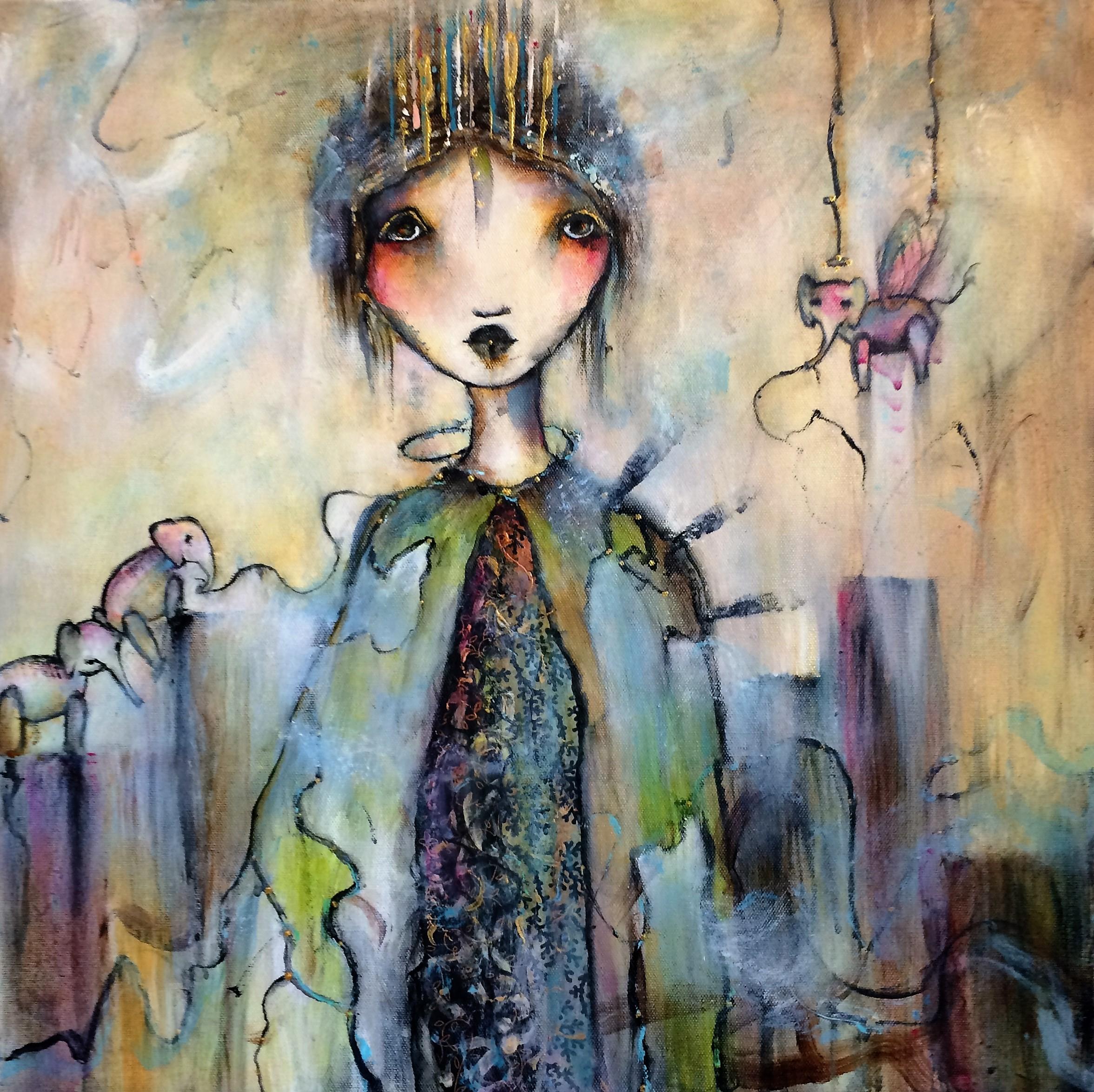 """Queen of Minneapolis 20""""x 20"""" cavas (Sold)"""