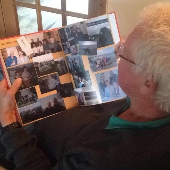 Photo Memories - 'As Dad reminisced we left sound stickers on the pages of the photo album. '