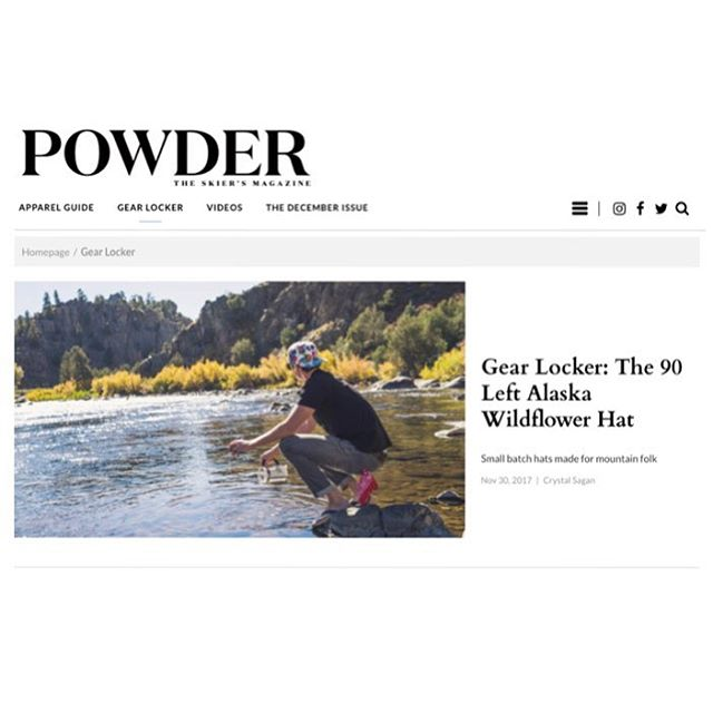 Wow! We're so honored to be on the homepage of @powdermagazine's Gear Locker. Thanks for taking the time to get to know our little company. We're so grateful to everyone who has supported us along the way. See you out there this winter! Link in bio. #90LEFT #powdertothepeople
