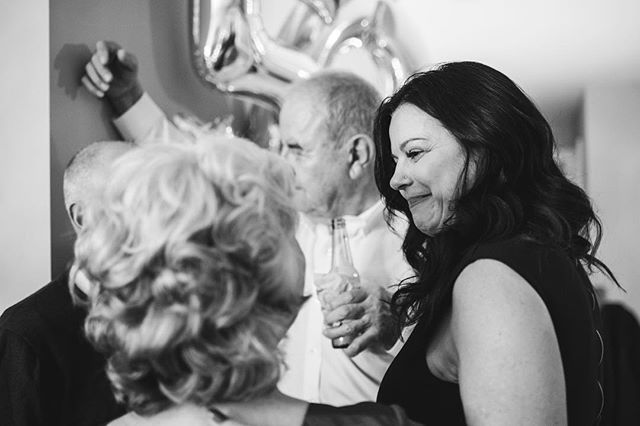 These are the moments that I live for. Nicole's parents flew in for her surprise birthday party and this moment of complete happiness was priceless 💕