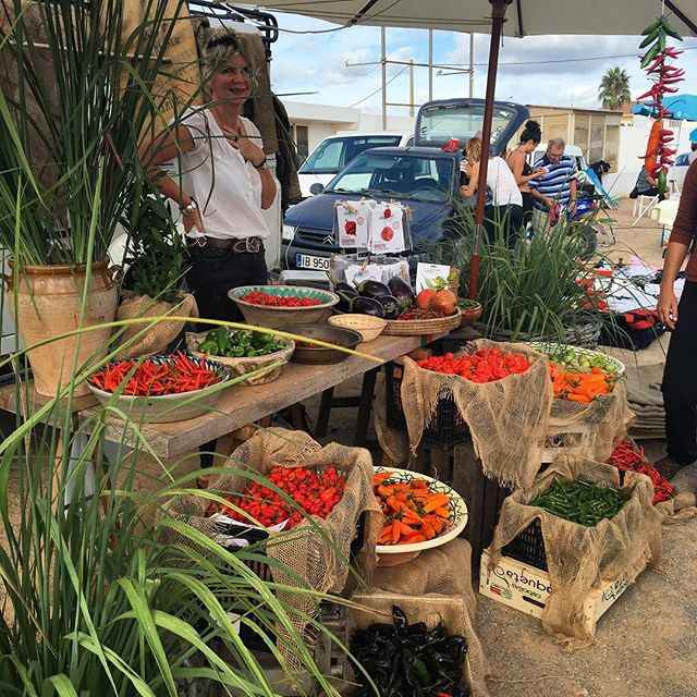 Chilli lady at the flea, Ibiza!