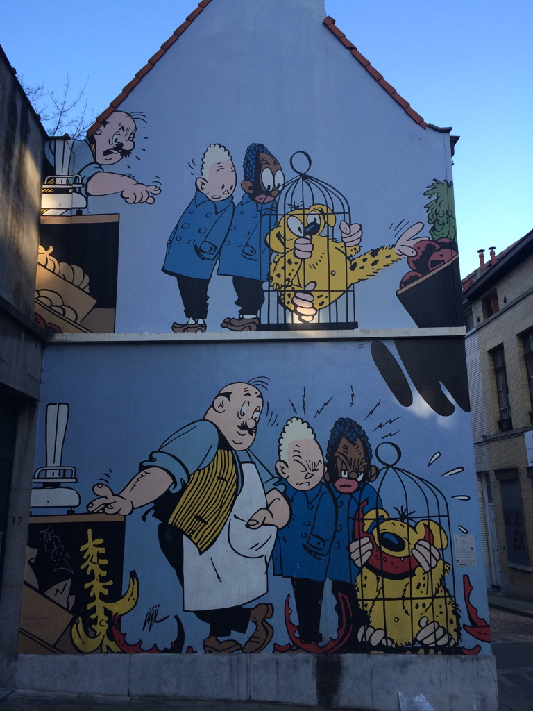 Street art in the Marolles district, Brussels