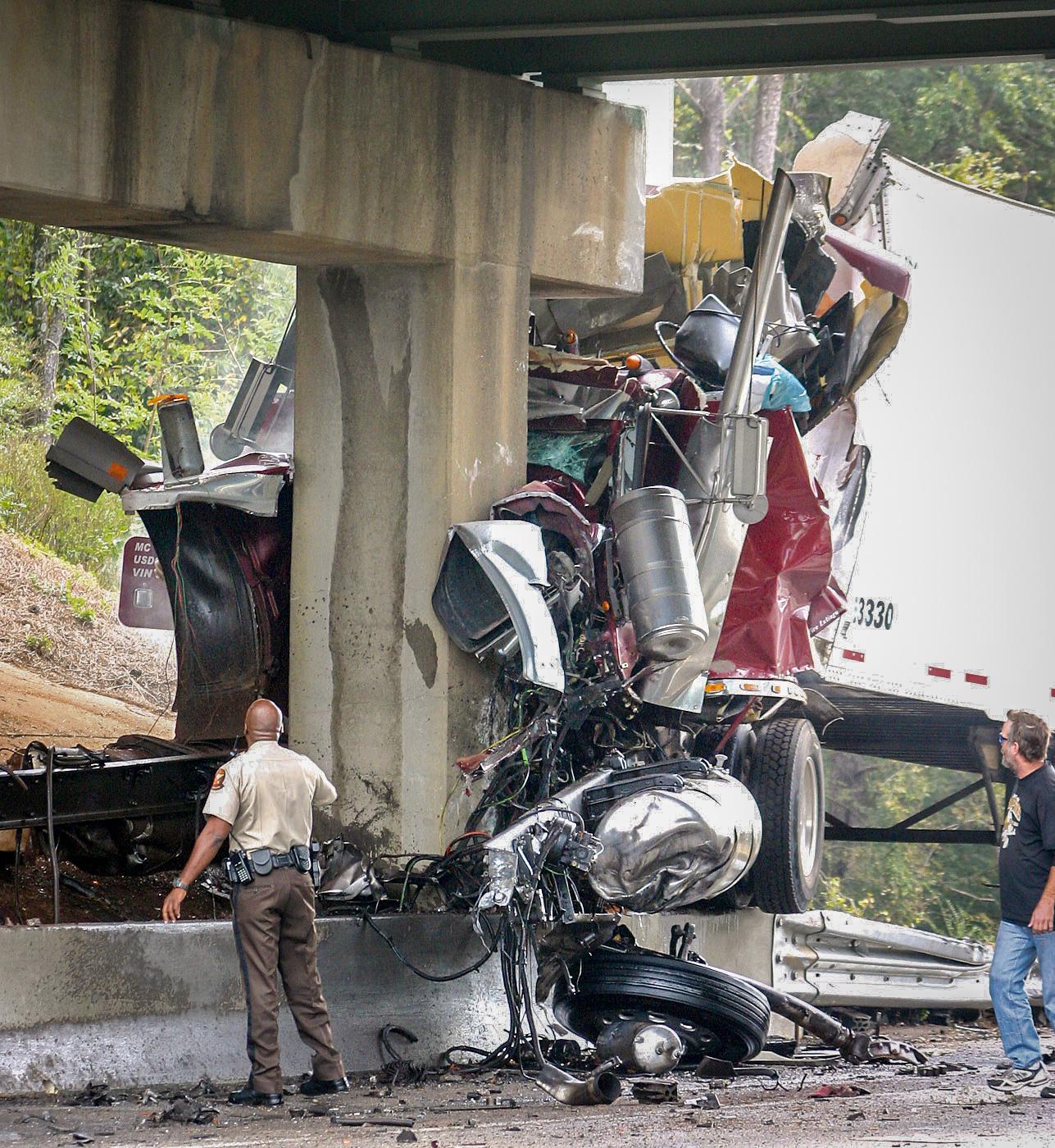 Interstate accident
