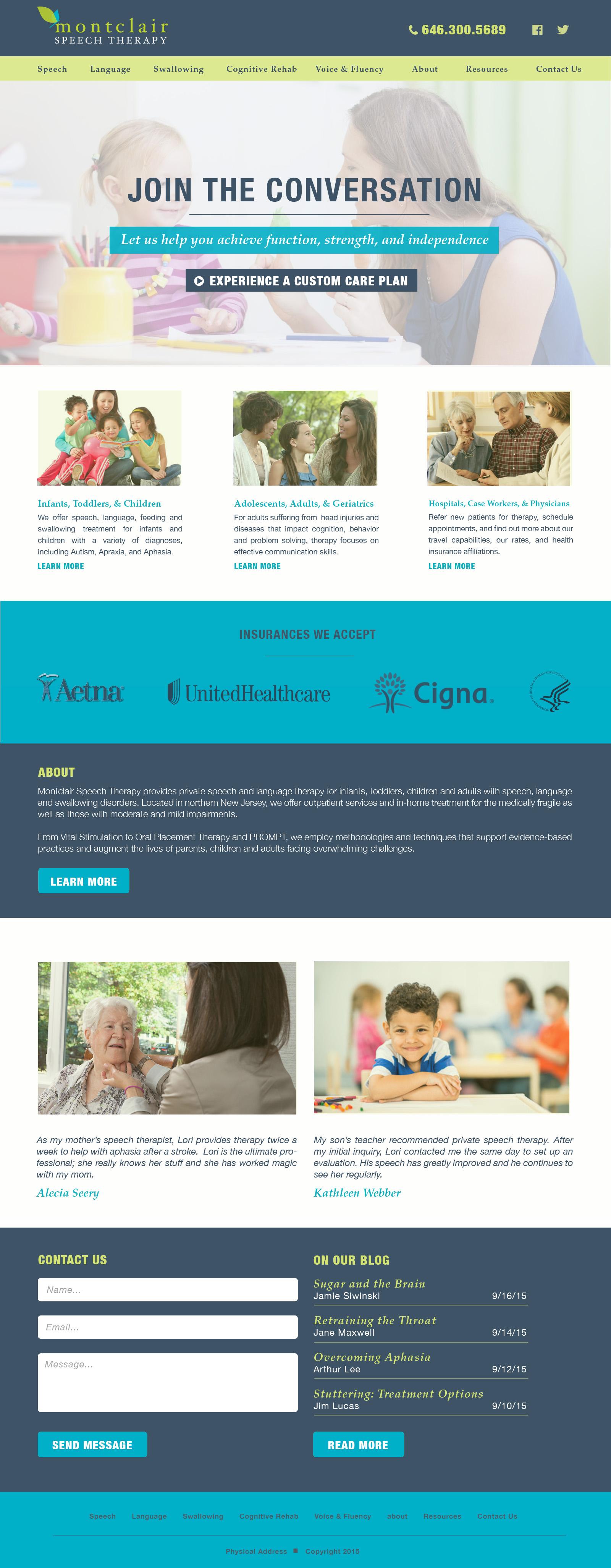 Homepage, full desktop view.