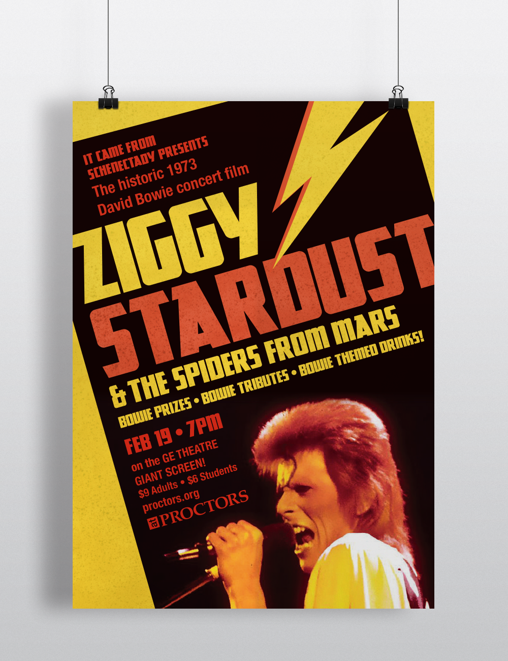 Poster,  Ziggy Stardust & the Spiders from Mars .