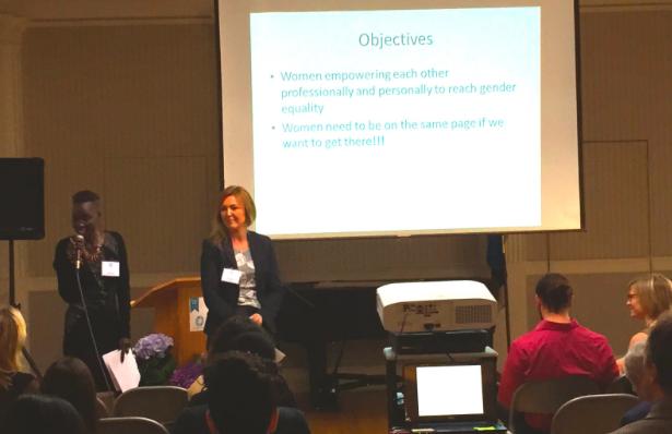 Mari Malek and Aga Wilson giving a Keynote on Women's Collaboration, #KotaDay2015