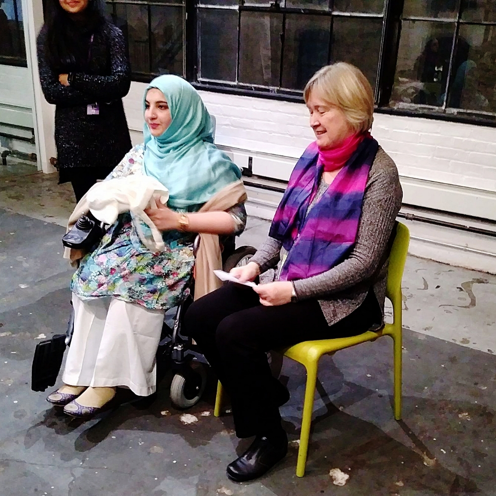 Tanzila Khan (left) and Jaana Rehnström