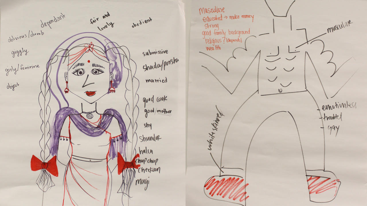 During the first sessions we discussed the gender stereotypes a lot.