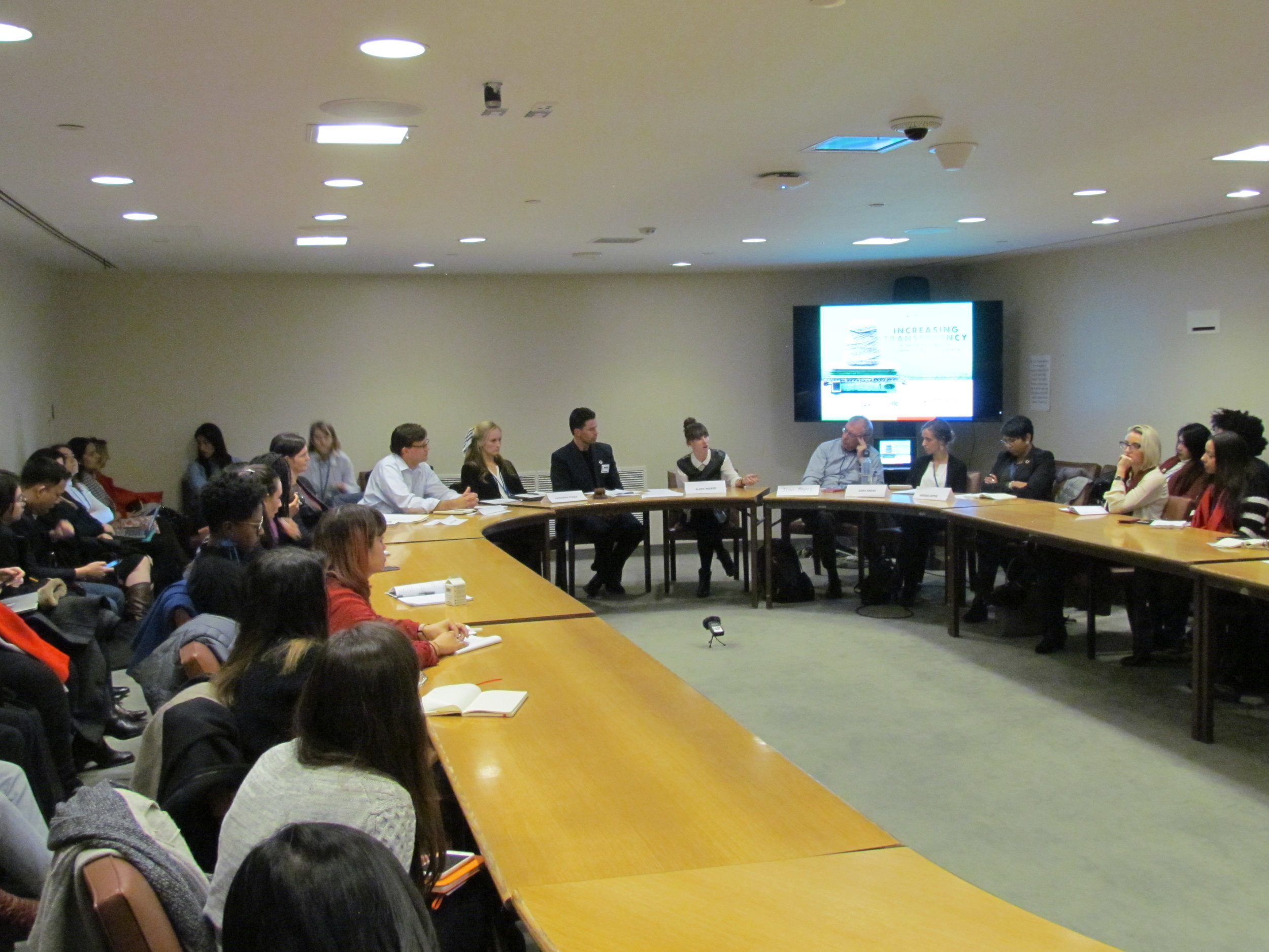 A panel discussion  Increasing Transparency in the Fashion Industry to Promote Inclusive Growth  at the United Nations.