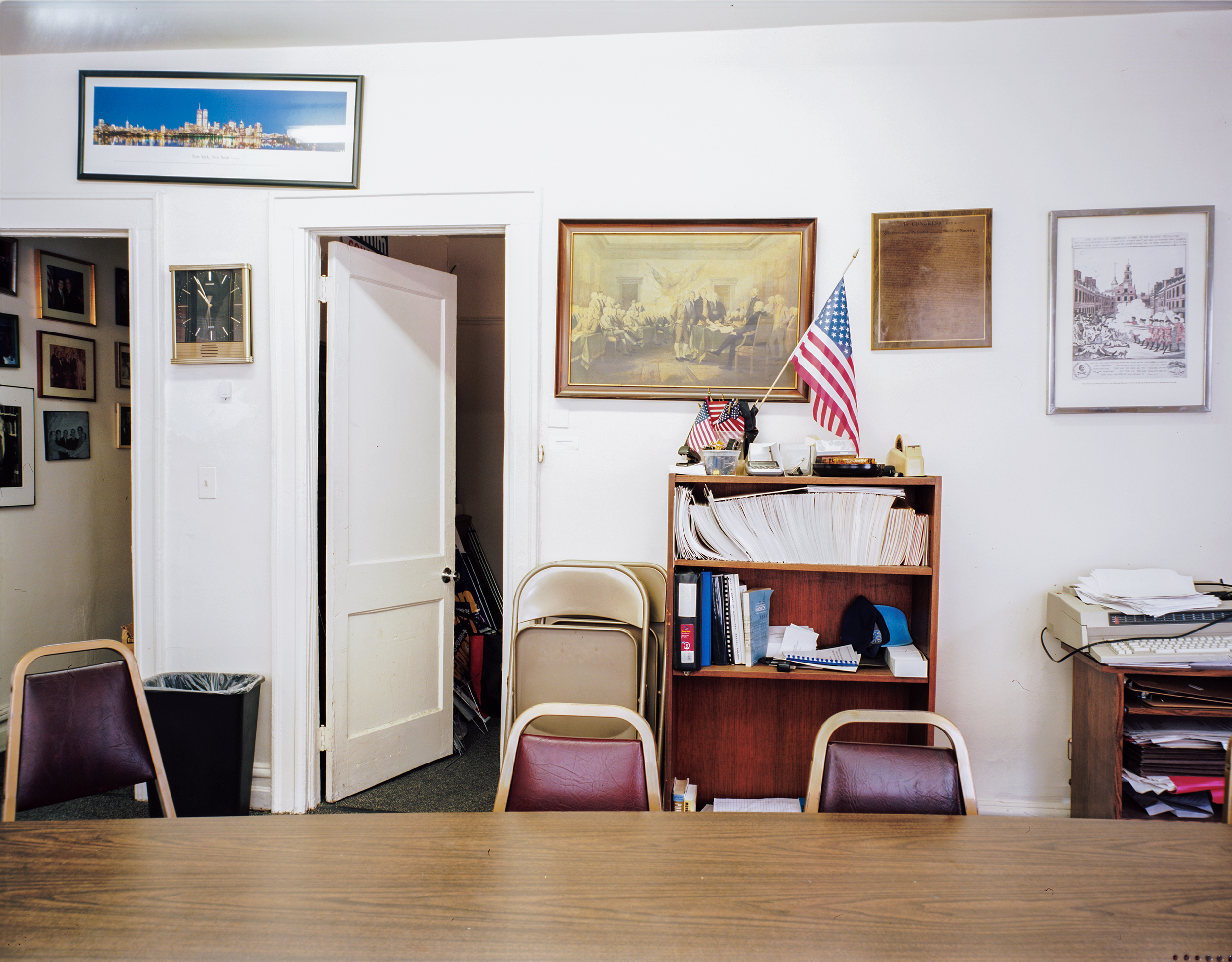 The meeting room of the Conservative Party of New York State.