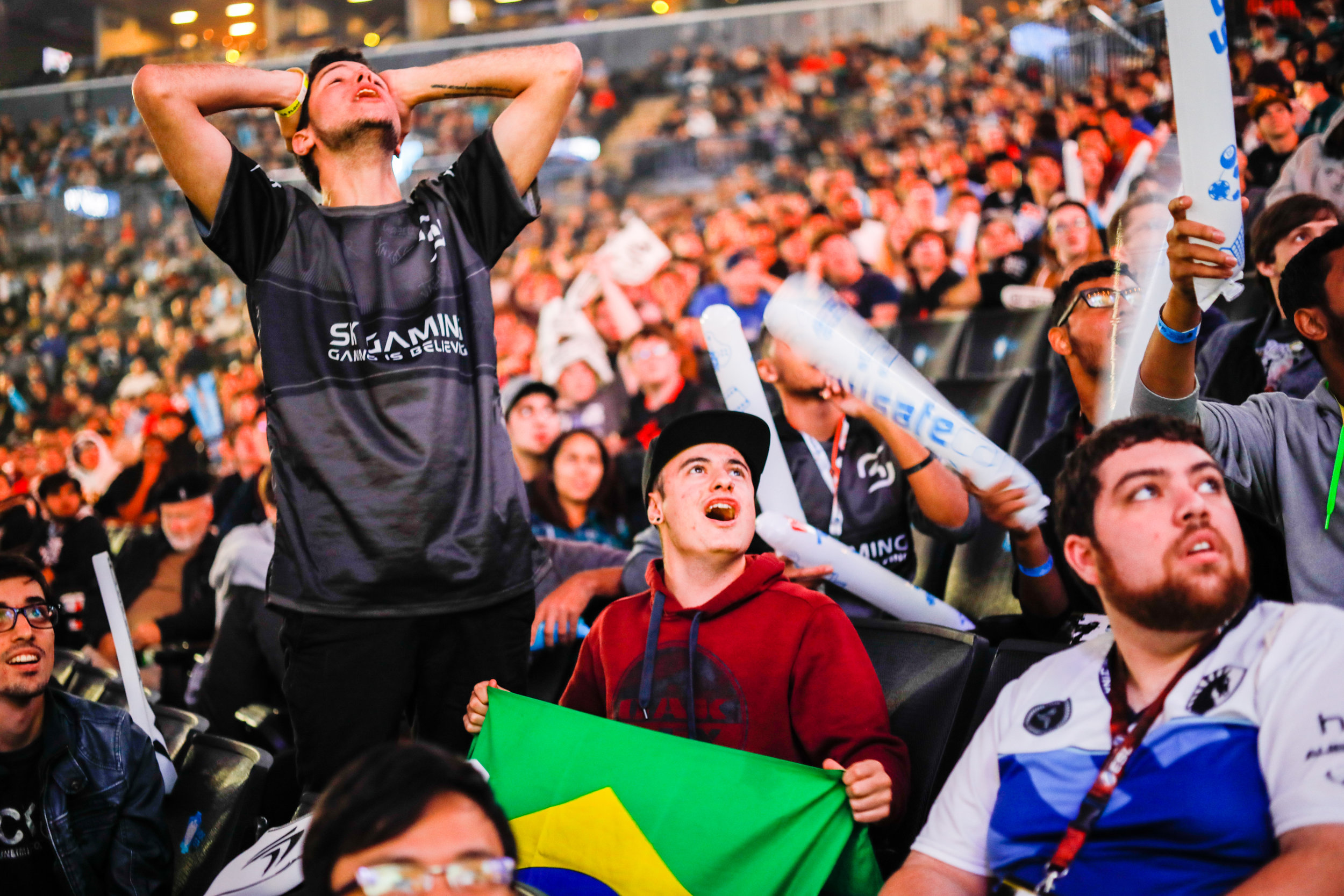Brazilian fans were particularly enthused and outspoken in the audience.