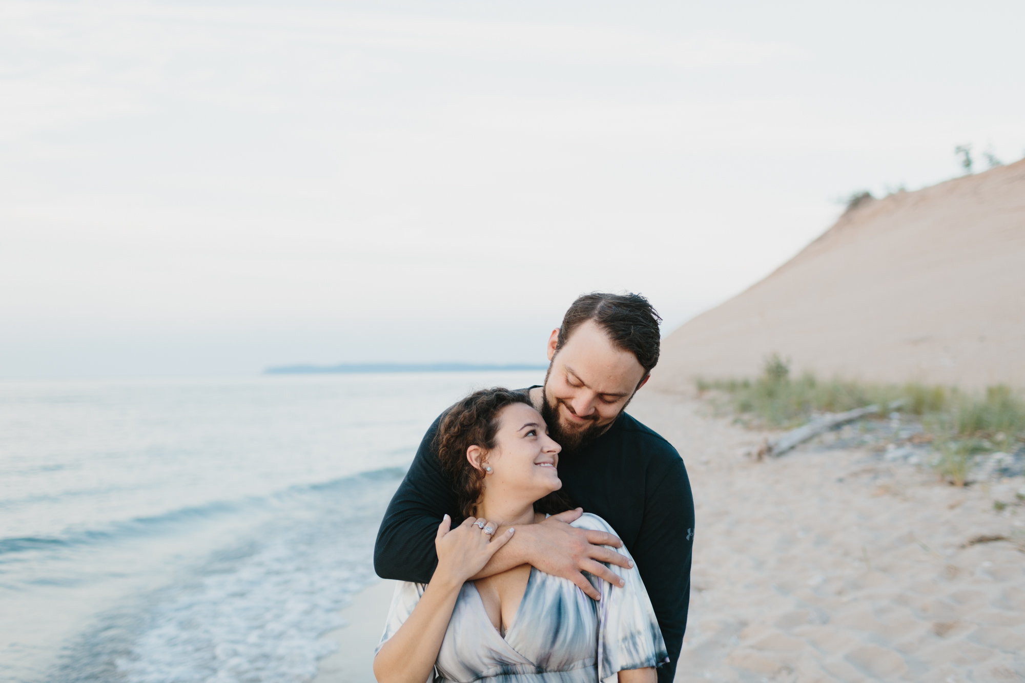 Northern Michigan Sleeping Bear Dunes Wedding Engagement Photographer Mae Stier-035.jpg