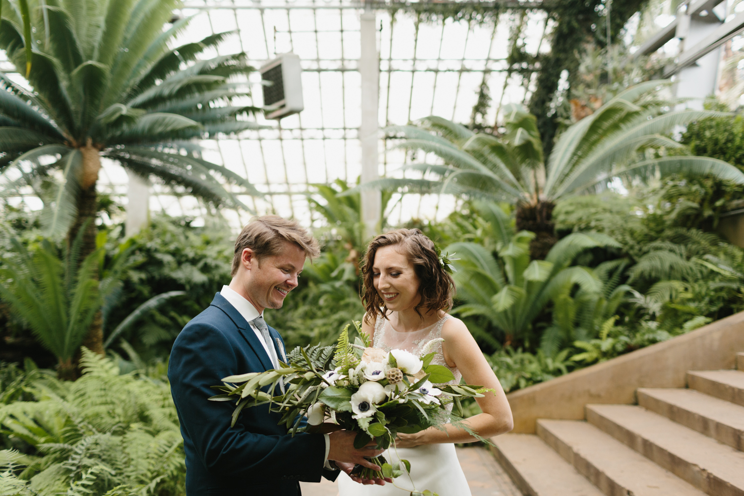 Chicago Garfield Park Conservatory Wedding by Northern Michigan Photographer Mae Stier-034.jpg