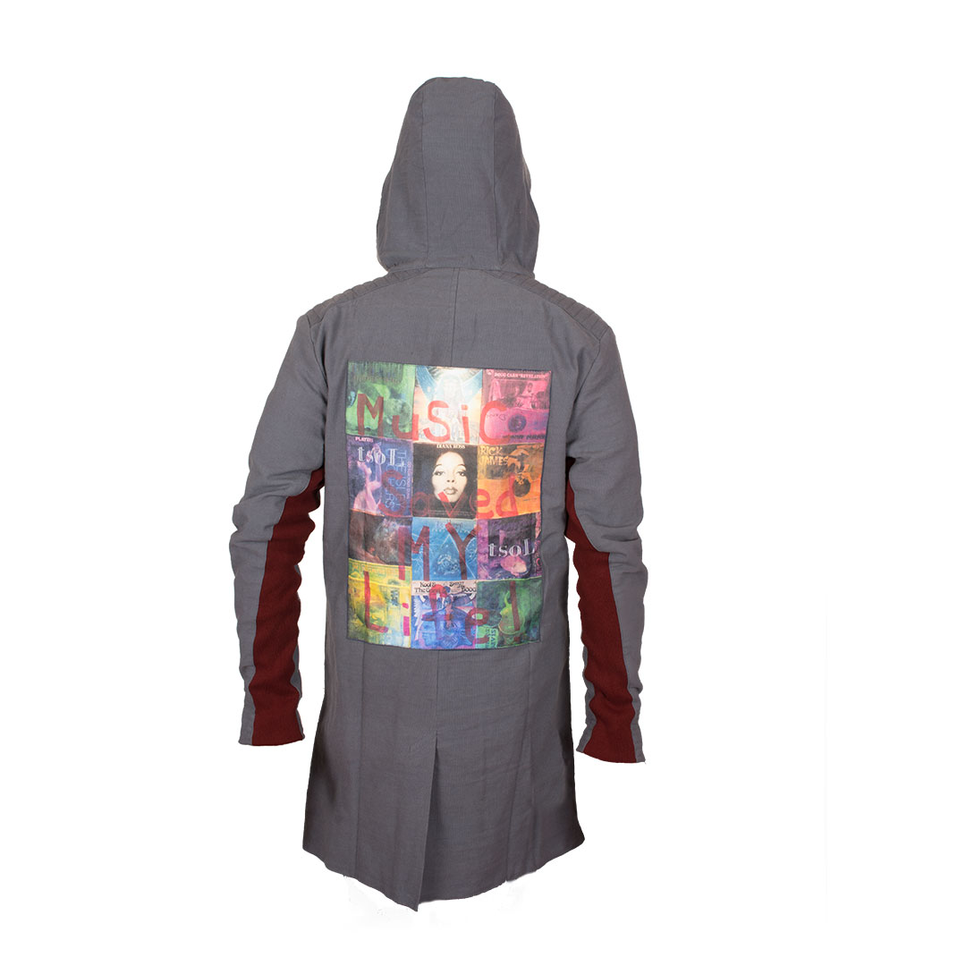 TRENCH COAT by tsoL apparel - Long hooded trench coat made with Organic Cotton.