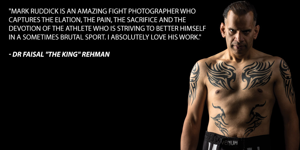 Mark Ruddick is an amazing fight photographer who captures the elation, the pain, the sacrifice and the devotion of the athlete who is striving to better himself in a sometimes brutal sport. I absolutely love his work.